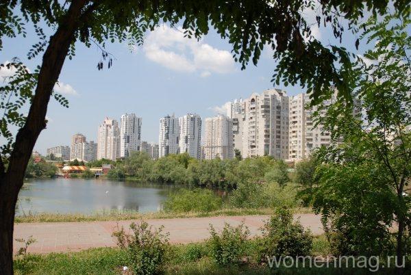 Озеро Лебединое в Киеве