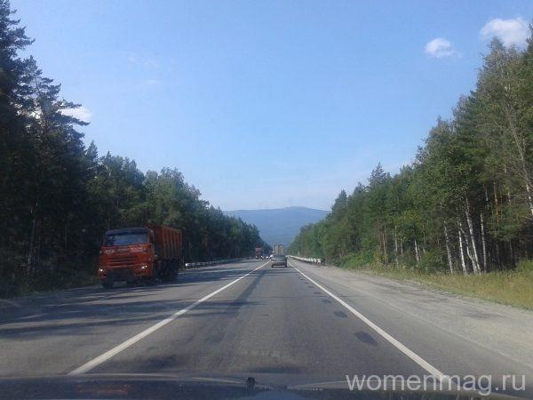 Дорога в Южном Урале