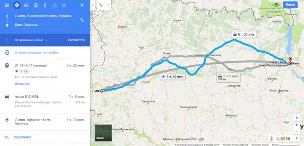 Путь с Киева до Львова